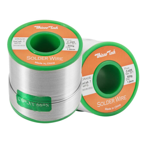 1mm Solder Wire Lead Free Sn99.3 Cu0.7 with Rosin Core for Electronic 500g//1.1LB