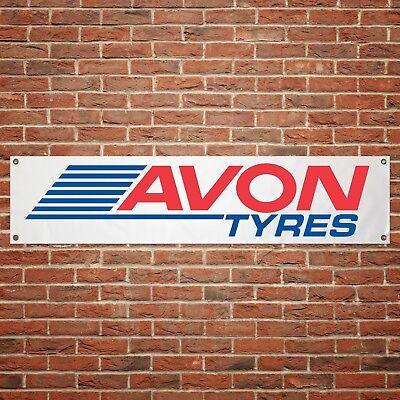 Avon Tyres Banner Garage Workshop PVC Sign Trackside Motorcycle Display