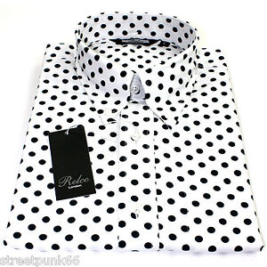 Black And White Polka Dot Button Down Shirt Mens | Is Shirt