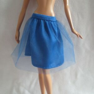 BOTTOM BARBIE DOLL WELCOME BABY MODEL MUSE BLUE WHITE SKIRT ACCESSORY CLOTHES