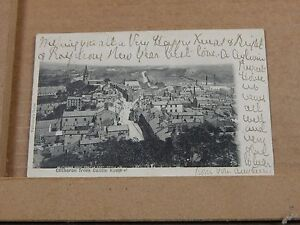 Postcard-Clitheroe-From-Castle-keep-early-Undivided-back-posted-1903-XC3