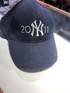 Nwt-New-York-Yankees-MLB-Azul-Beisbol-Gorro-Gorra-H-amp-R-Bloque-2011-Ajustable