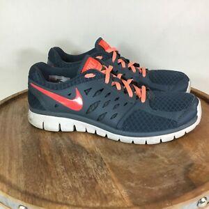 Nike-Flex-2013-Run-Womens-Sneaker-Shoes-Gray-Peach-580440-401-Size-9
