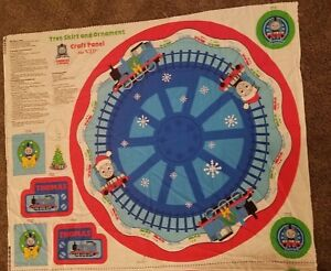 Thomas The Train Christmas Tree.Details About Cranston Thomas The Train Christmas Tree Skirt Ornament Fabric Panel Uncut New
