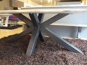 Das Bild Wird Geladen Esstisch Madison Tisch Massiv Holz Stahl Fuss Spider