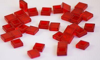 60x LEGO® Fliese//Kachel 1x1 3070b NEU Transparent Rot Trans Red