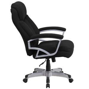 Hercules Series 500 Lb Capacity Tall Black Fabric Executive Office Chair