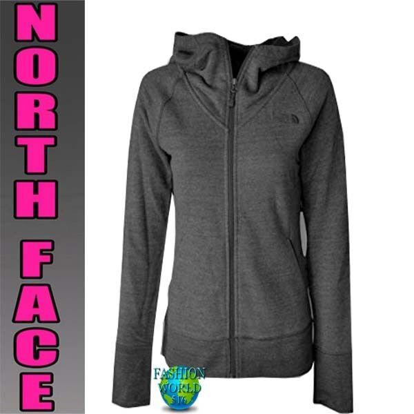 175352929 The North Face Women's Size Medium Terry Full Zip RTO Hoodie Jacket Dark  Gray