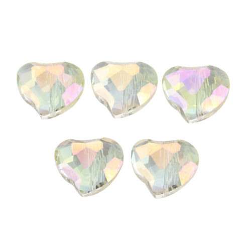 Glass Crystal 20mm Charms Jewelry 20pcs Hearts Bulk Wholesale Craft Findings