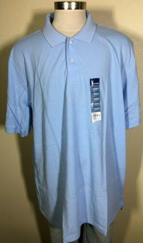 Basic Editions Short Sleeve Light Blue 100/% Cotton Polo Shirt Men/'s 3XLT NWT