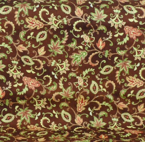 SALE /% Autumn Song Ranken Braun Patchworkstoff Stoff Baumwolle Patchwork Herbst