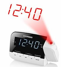 HYUNDAI Projektion Design Uhrenradio Digital Radiowecker LCD Wecker Radio Uhr