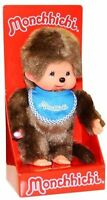 Monchhichi Boy Original Sekiguchi 7.5 Blue Bib Monchichi Plush Monkey Doll Toy