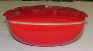 Pyrex 525B 025 2.1/2 Quart Red Bowl Dish Casserole with Lid