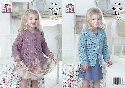KINGCOLE 5128 Baby DK Knitting Pattern Not the finished items sizes 22-30