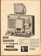 1957 Vintage ad for argus m-500 movie projector (062213)