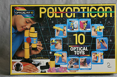 Toy Microscope Telescope Kit Polyopticon 10 Optical Science Fair Home School Ex