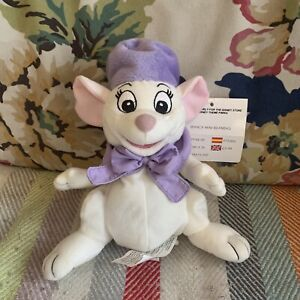 Disney Store The Rescuers Miss Bianca Mouse Rare Vintage Beanie Soft Plush Toy