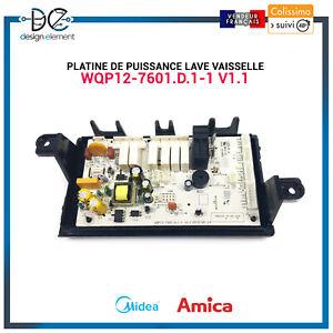 Platine de puissance WPQ12-7601.d.1-1 v1.1 Lave vaisselle Midea Amica Beko Fagor