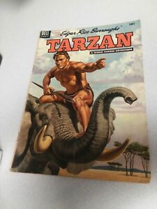 Edgar-rice-burroughs-TARZAN-60-dell-comics-1954-Golden-Age-jungle-painted-cover