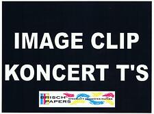 "LASER TRANSFER FOR DARK FABRIC: ""IMAGE CLIP KONCERT-T's"" (8.5""X11"") (25 SETS)"