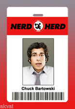 Chuck Bartowski Nerd Herd Replica Novelty PVC ID Card or Customise with own Name