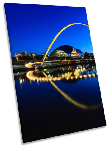 Newcastle Gateshead Millennium Bridge Framed CANVAS WALL ART Picture Print