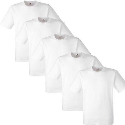 1 5 10 20 PACK MENS FRUIT OF THE LOOM WHITE COTTON T-SHIRT TSHIRT TEE S -5XL LOT