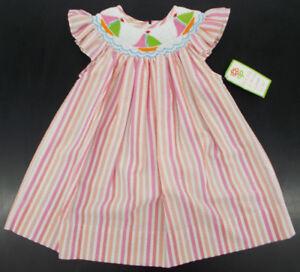 23d6bfceaf9ba Infant & Toddler Girls Vivi's Kids Multi-Pink Hand Smocked Dress ...