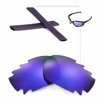 Wl Polarized Purple Vented Lenses And Black Rubber Kit For Oakley Jawbone