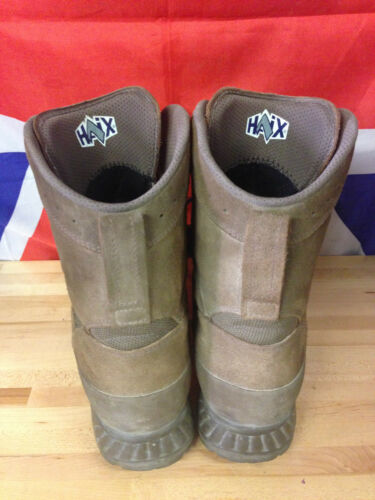 Genuine British Army Brown HAIX Desert High Liability Boots Used Gr 1 Many Sizes