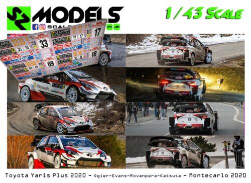 1//43 Rally Decal Additif Toyota Yaris Wrc Ogier Evans Rovanpera Montecarlo 2020