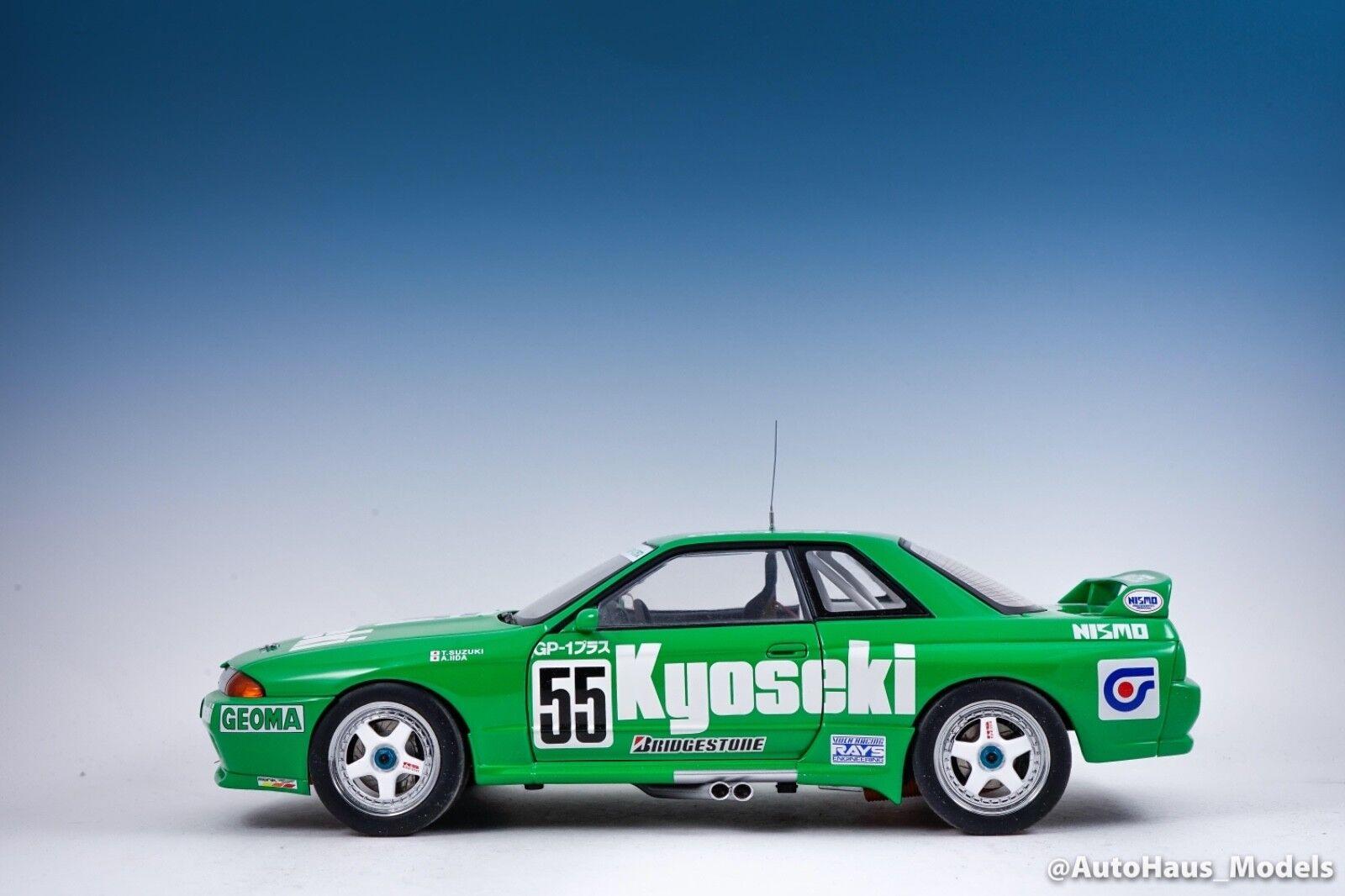 1 18 AUTOART NISSAN SKYLINE GT-R R32 GROUP A 1993 NIKKO KYOSEKI GP-1 PLUS