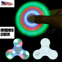 Us Pre-sale Led Bluetooth Edc Hand Spinner Finger Fidget Gyro Adhd Autism Music