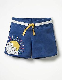 Mini Boden Shorts Fun applique jersey girls G0287 blue pink green age 2-12