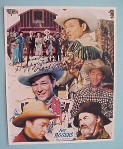 ROY ROGERS & DALE EVANS HAND SIGNED / AUTOGRAPHED FULL COLOR 8x10 PHOTO COLLAGE