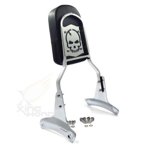 Skull Backrest Sissy Bar For Honda Shadow ACE 750//VT750 1997-2003 2002
