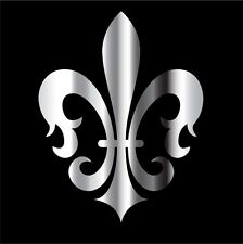 This is a chrome Fleur De Lis decal or sticker. Great for Car or laptop!