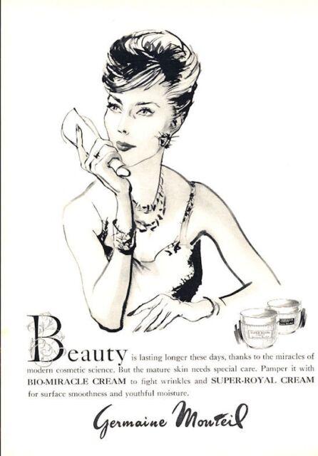 "1966 Germaine Monteil ""Bio-Miracle Cream"" ART PRINT AD"