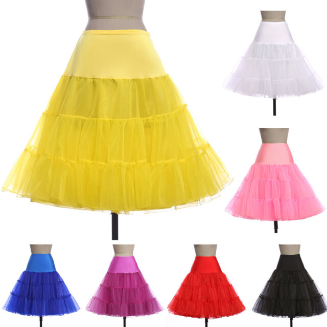 Women's Wedding Crinoline Underskirt Swing Vintage Petticoat Fancy Net Skirts ❤❤