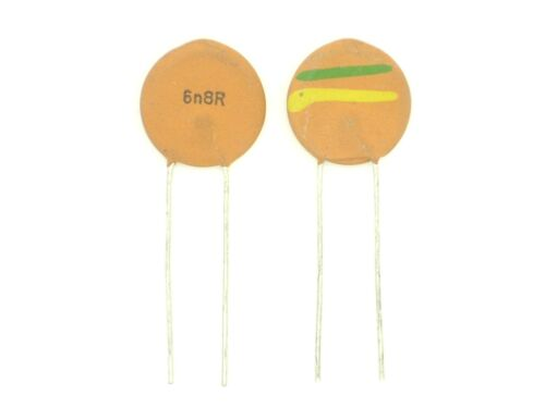 6800pF,Kerko O241 2x Keramik-Kondensator 6,8nF ca.ø15x3 RM7