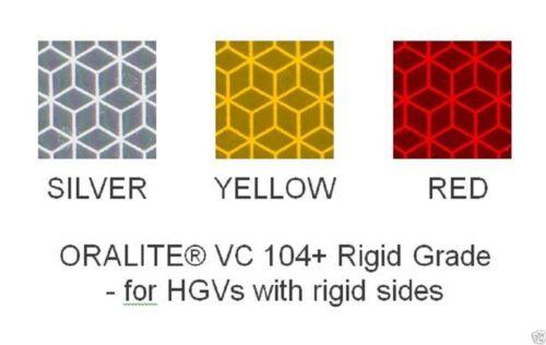 CHOOSE COLOUR//LENGTH VC104 REFLECTIVE MARKER TAPE RIGID GRADE PRISMATIC VINYL