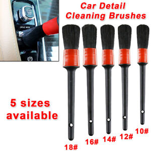 5x-Detailing-Brush-Cleaning-Natural-Boar-Hair-Brushes-Auto-Care-Car-Detail-Tools