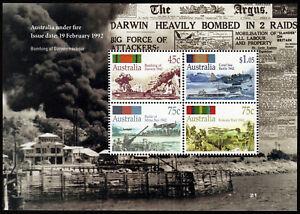 1992-Under-Fire-Darwin-Minisheet-ANZAC-Stamps-Mint-Australia
