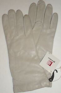 Ladies-Grandoe-Genuine-Leather-100-Cashmere-Lined-Gloves-Ivory-S