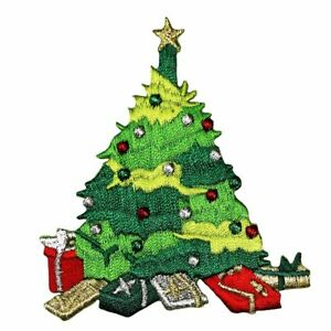 Id 8044 Christmas Tree With Presents Patch Decorate Embroidered Iron