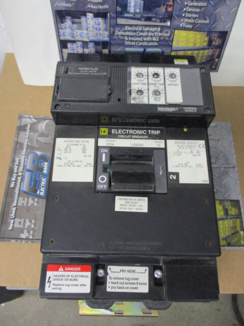 Square D LX36250 LSI 250 Amp Circuit Breaker Tested