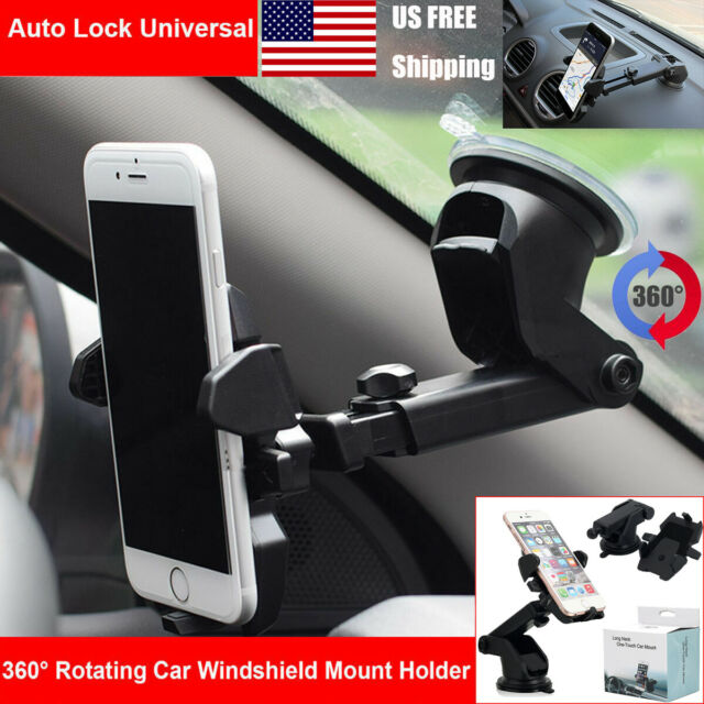 Universal Portable Adjustable 360 Degrees Rotatable Cell Phone GPS in Car Air Vent Mount Stand Holder Cradle Bracket