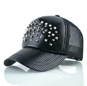 1620dfdda Details about Fashion Women Baseball Cap Men Shinning Hip Hop Casquette  Rivet Snapback