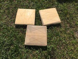 Rubber Bases Set of 3 Baseball//Softball Durable High Quality Bases